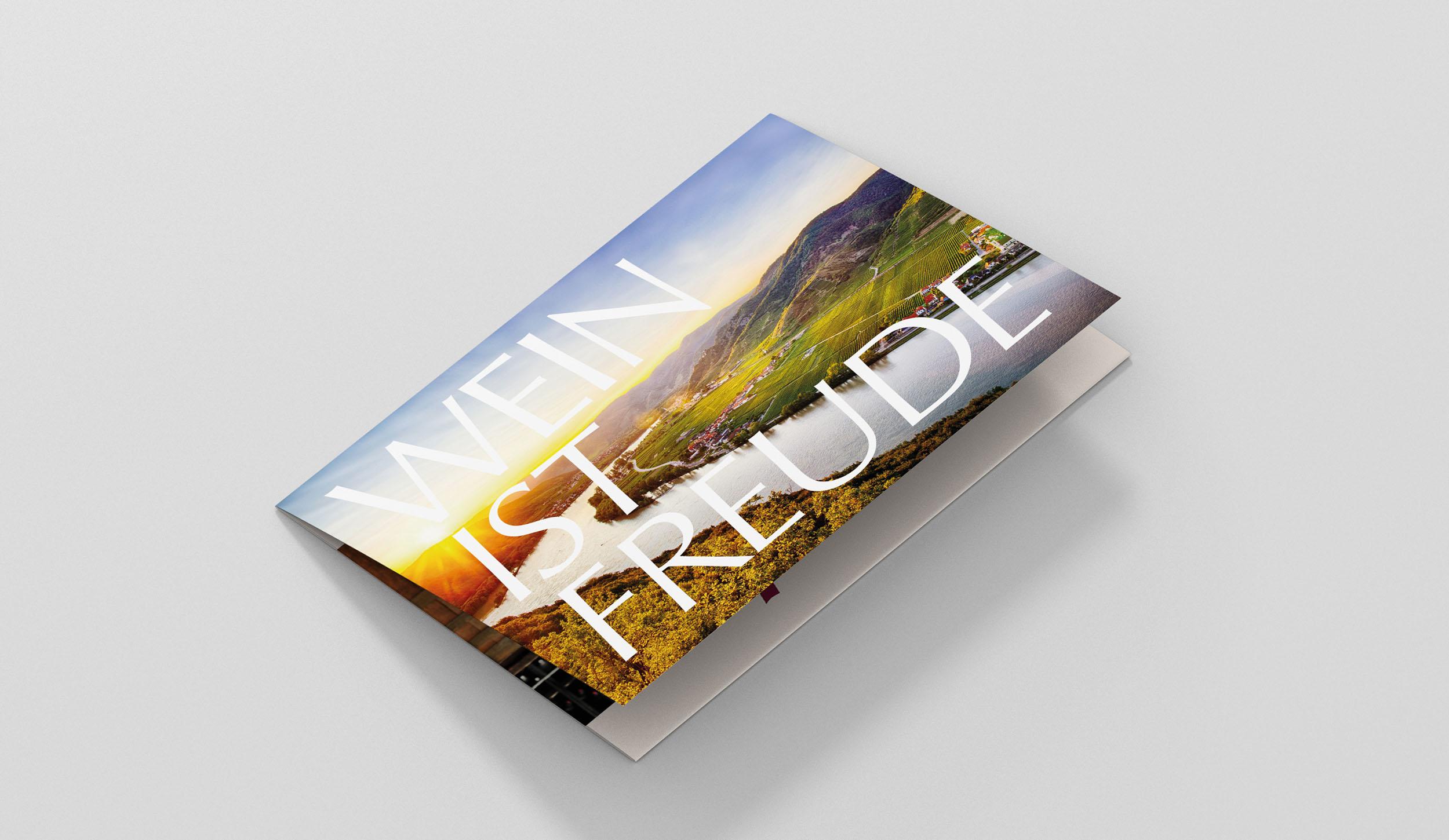 Flyer Design Wein Rieser Werbeagentur Zillertal