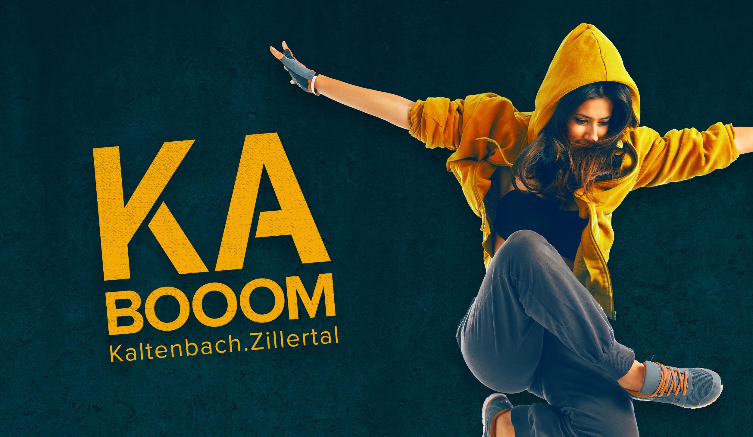 Konzept und Branding Kabooom Kaltenbach im Zillertal